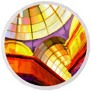 Abstract Cathedral Color Wheel Round Beach Towel