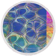 Abstract Cells 6 Round Beach Towel