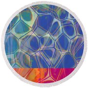 Cells 7 - Abstract Painting Round Beach Towel