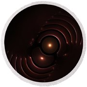 Abstract Chromeart Round Beach Towel