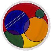 Abstract Circle 3 Round Beach Towel