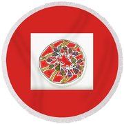Abstract Circle Design #1 Round Beach Towel