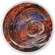 Abstract- Circle Round Beach Towel