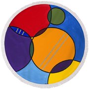 Abstract Circles 2 Round Beach Towel