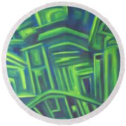 Abstract Cityscape Series IIi Round Beach Towel