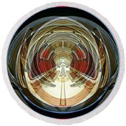 Abstract Classic Car Round Beach Towel