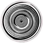 Abstract Clock Spring Round Beach Towel