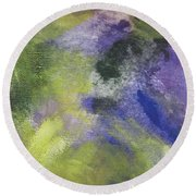 Abstract Close Up 1 Round Beach Towel