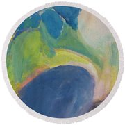 Abstract Close Up 12 Round Beach Towel