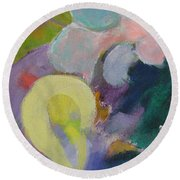 Abstract Close Up 15 Round Beach Towel