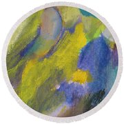 Abstract Close Up 2 Round Beach Towel