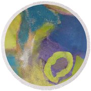 Abstract Close Up 4 Round Beach Towel
