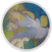 Abstract Close Up 7 Round Beach Towel