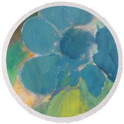 Abstract Close Up 9 Round Beach Towel