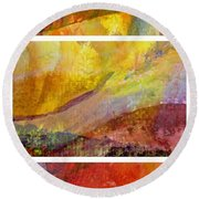 Abstract Collage No. 4 Round Beach Towel