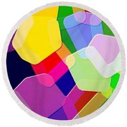 Abstract Collection 011 Round Beach Towel