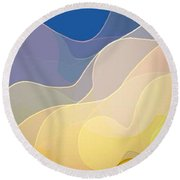 Abstract Collection 019 Round Beach Towel