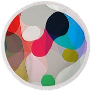 Abstract Collection 020 Round Beach Towel