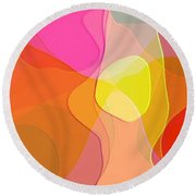 Abstract Collection 021 Round Beach Towel