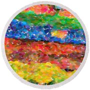 Abstract Color Combination Series - No 8 Round Beach Towel