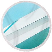 Abstract Color Of Architecture Round Beach Towel