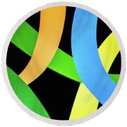 Abstract Colors Round Beach Towel