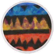 Abstract Combination Of Colors No 4 Round Beach Towel