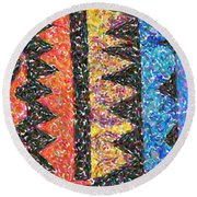 Abstract Combination Of Colors No 6 Round Beach Towel