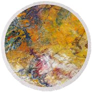 Abstract Composite Round Beach Towel
