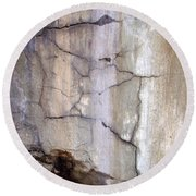 Abstract Concrete 2 Round Beach Towel