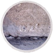 Abstract Concrete 4 Round Beach Towel