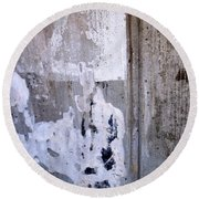 Abstract Concrete 9 Round Beach Towel