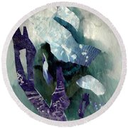 Abstract Construction Round Beach Towel
