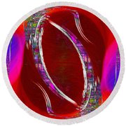 Abstract Cubed 233 Round Beach Towel