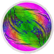 Abstract Cubed 234 Round Beach Towel