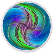 Abstract Cubed 261 Round Beach Towel