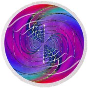Abstract Cubed 262 Round Beach Towel