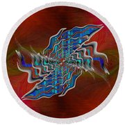Abstract Cubed 271 Round Beach Towel