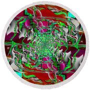 Abstract Cubed 275 Round Beach Towel