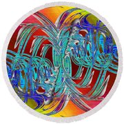 Abstract Cubed 280 Round Beach Towel