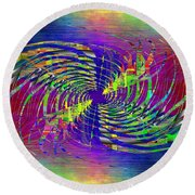 Abstract Cubed 298 Round Beach Towel
