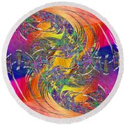 Abstract Cubed 314 Round Beach Towel