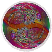 Abstract Cubed 320 Round Beach Towel