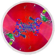 Abstract Cubed 344 Round Beach Towel