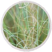 Abstract Curly Grass One Round Beach Towel