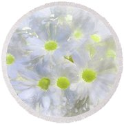 Abstract Daisy Boquet Round Beach Towel