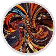 Abstract Delight Round Beach Towel