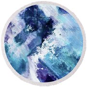 Abstract Division - 72t02 Round Beach Towel