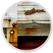 Abstract Dock Round Beach Towel
