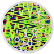 Abstract Dr #6 Round Beach Towel